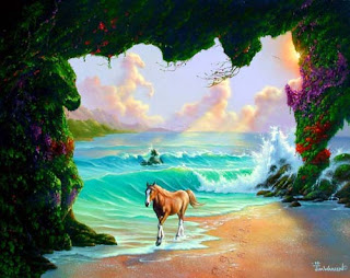 7 horses optical illusion