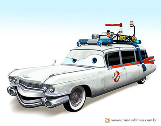 Carros famosos ao estilo Pixar