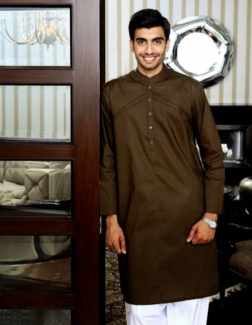 NishatLinen Naqsh - Gents Kurta Salwar for Eid -2014