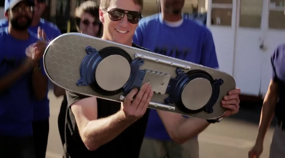 Tony Hawk HUVr hoax hoverboard back to the future