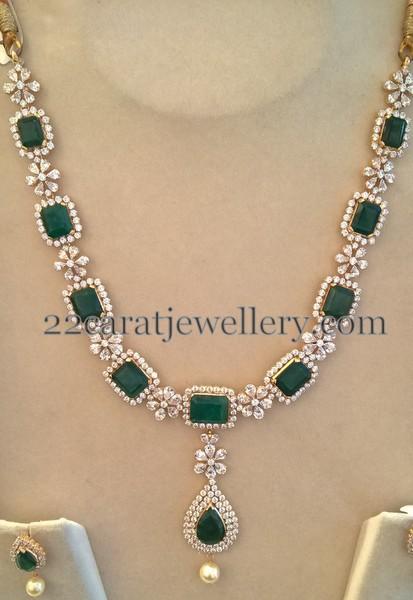 swarovski czs and emeralds set jewellery designs