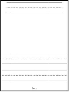 name writing paper kindergarten