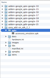Android SDK with Sony Add On Folder installed