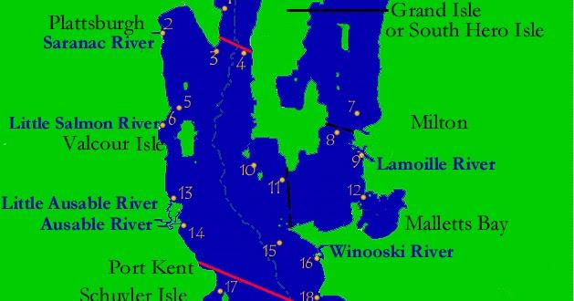 Fish champlain lake champlain fishing map for Lake champlain fishing report