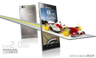 Lenovo K900 Smartphone Dengan CPU Intel Atom Berspesifikasi Mempuni