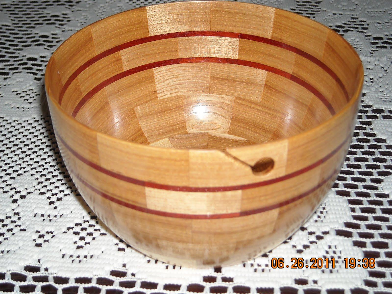 Knitting Bowls Wood : Wood by larry yarn bowls