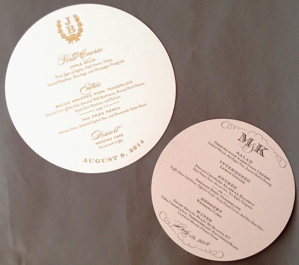 Menu Cards For Wedding Receptions: Nico And LaLa: Wedding Reception Menu Cards