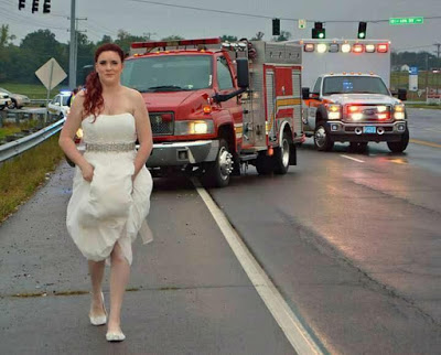 Selfless Paramedic Bride Helps Car Crash  Victims While Wearing Her Wedding Dress