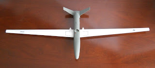 maqueta estatica de drone rq-4 global hawk