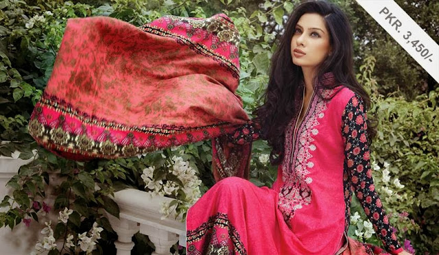 Alkaram Resham linen Embroidery collection 2013
