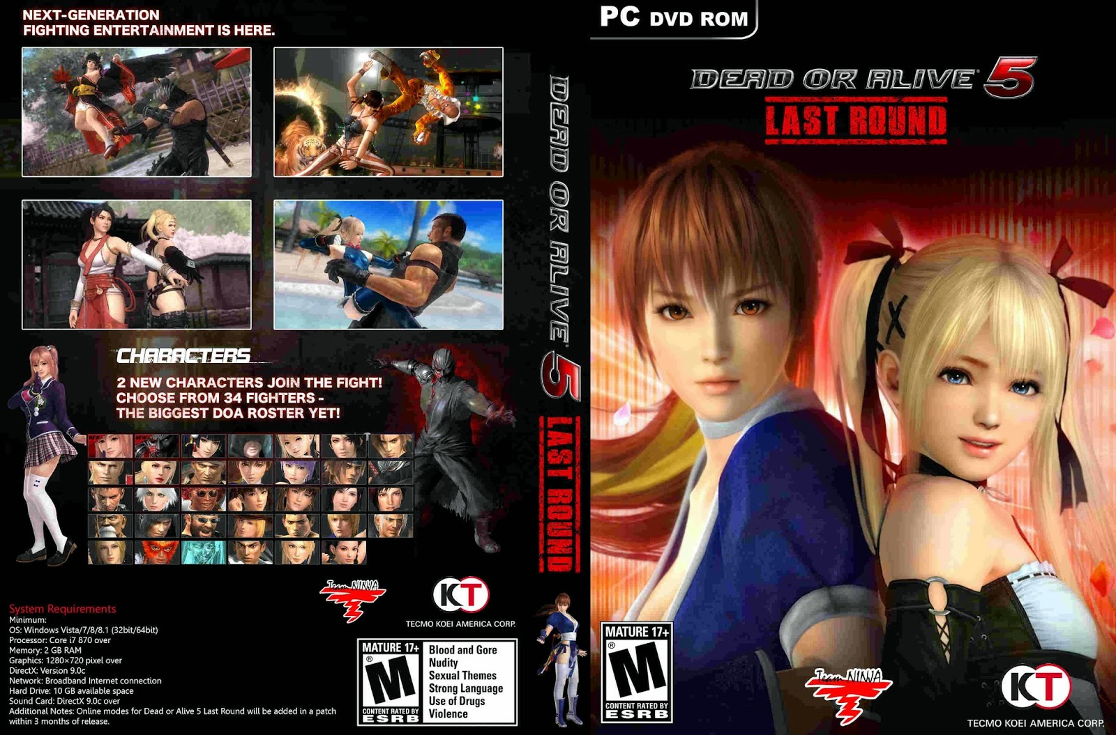 Telecharger DEAD OR ALIVE 5 Last Round PC