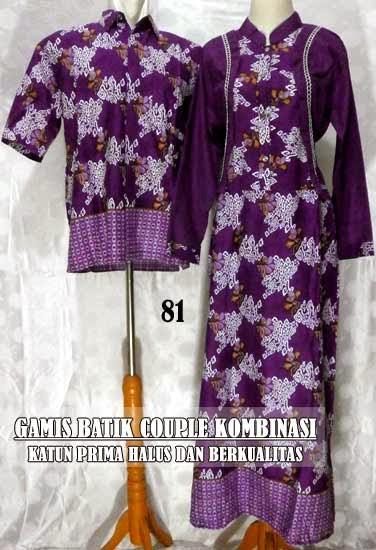 Gamis Batik Sarimbit Modern Model Terbaru