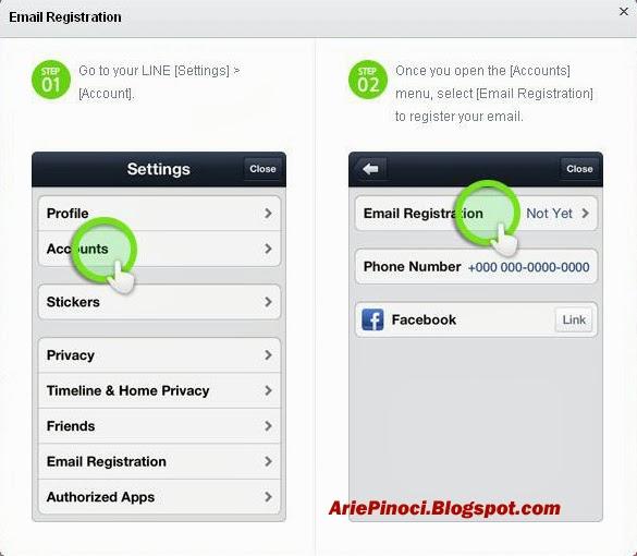Registrasi Email Akun Line di Ponsel
