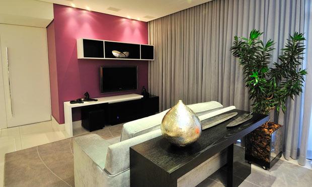 Sala De Estar Parede Rosa ~  de interiores Arquitetura e Estilo pessoal Só uma parede colorida