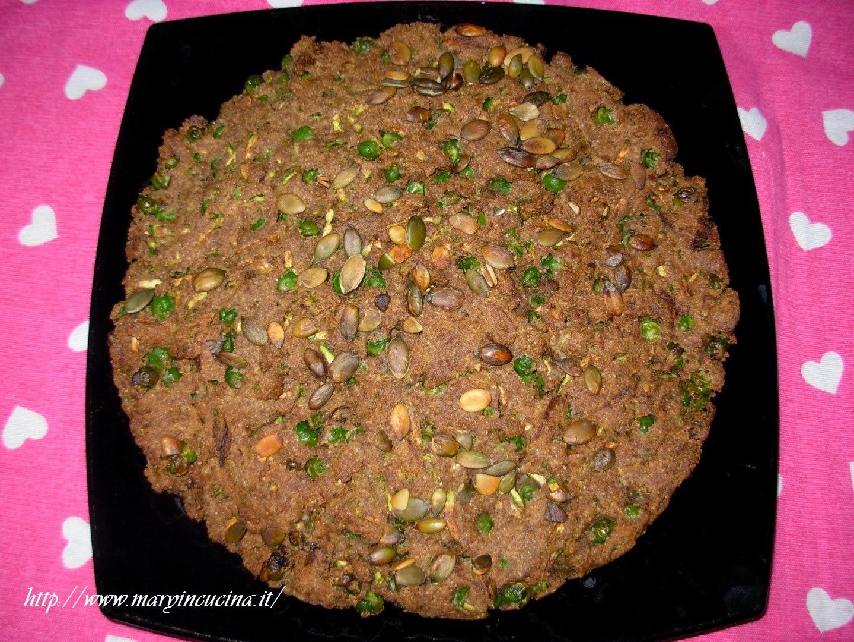 Torta salata di zucchine e piselli