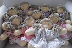 Bonecas de pano 20 cm