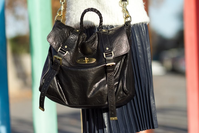 Bolso / Bag: Black Leather Mulberry Alexa