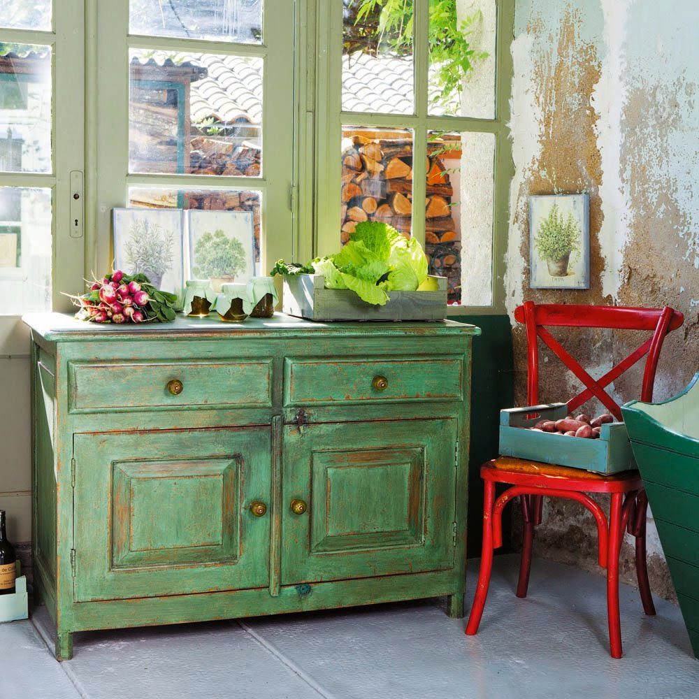 Deco verde que te quiero verde virlova style for Muebles vintage