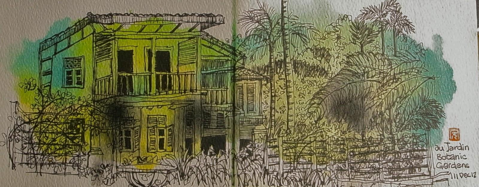 Francis theo botanic gardens sketches 11 dec 12 for Au jardin restaurant singapore