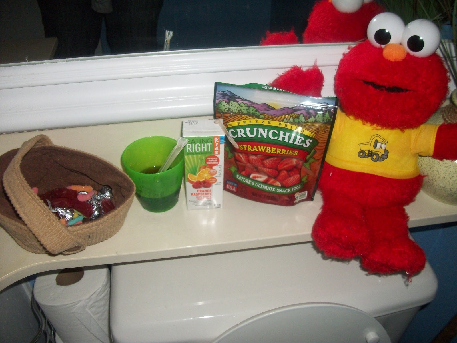 we trained jadons elmo potty doll celebrated jadons new big boy underwear downed several choice beverages and made the every 15 minutes trips to the