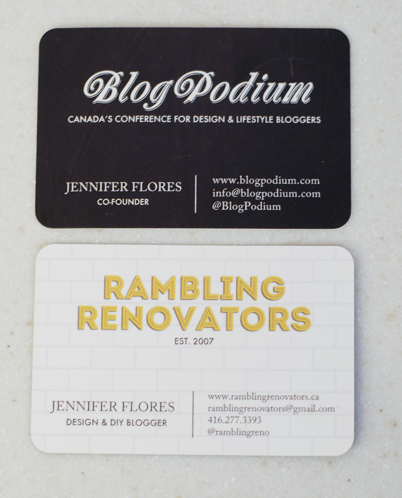 Anatomy of a business card rambling renovators i knew i wanted the cards to be distinct but similar and speak the same language blogpodium and rambling renovators have their own clear brand and feel but reheart Choice Image