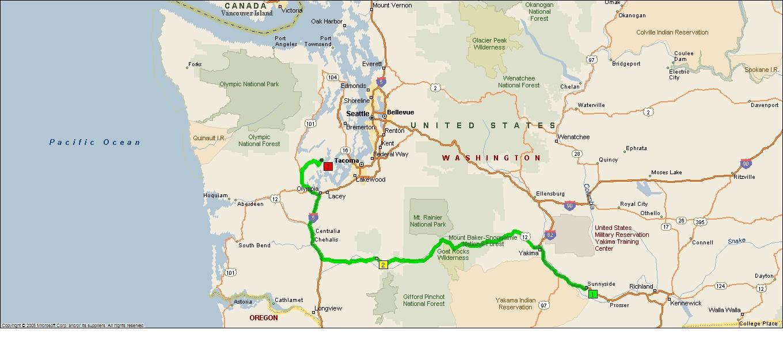 Roving Reports By Doug P  Olympia Peninsula Washington State - Map washington state peninsula