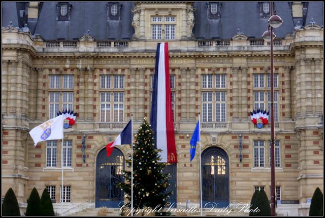 Hotel de Ville Versailles town hall Christmas