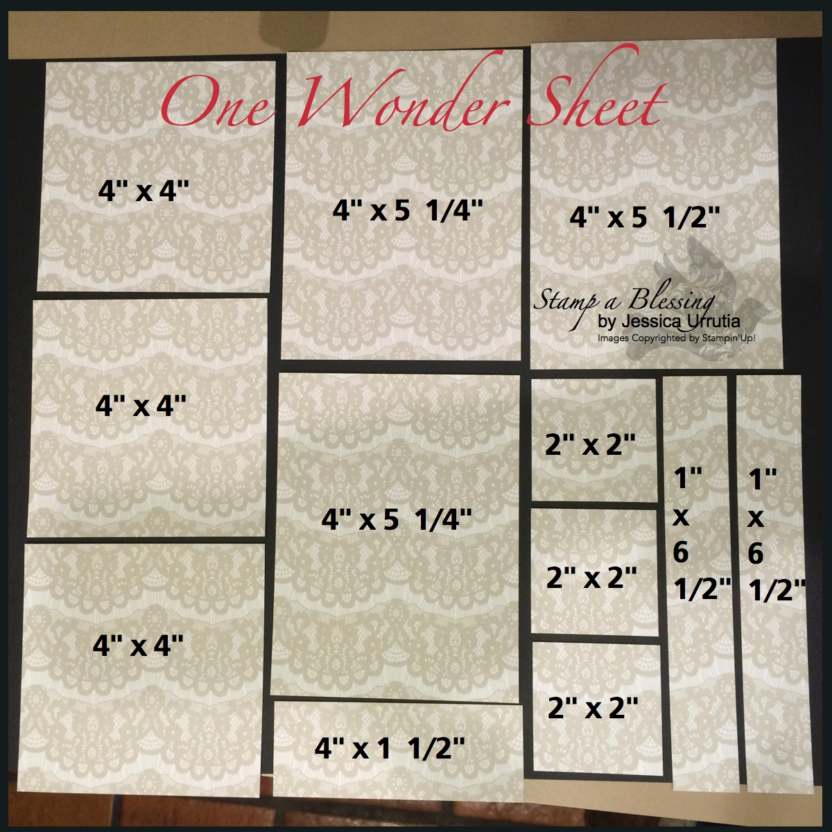 Stamp A Blessing One Wonder Sheet Template 1