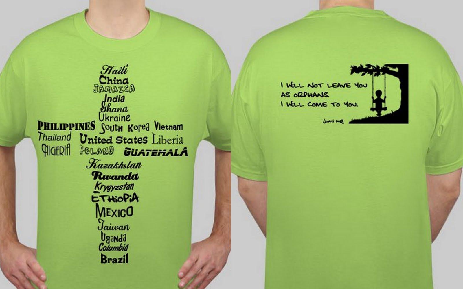 Windex and waiting rooms adoption t shirts fundraiser for Adoption fundraiser t shirts