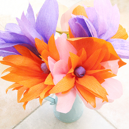 How To Make Crepe Paper Flowers Centerpiece