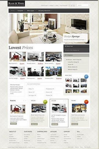 templates giant : Black & White v2.5 Gavick Joomla 1.7 Template-Retail