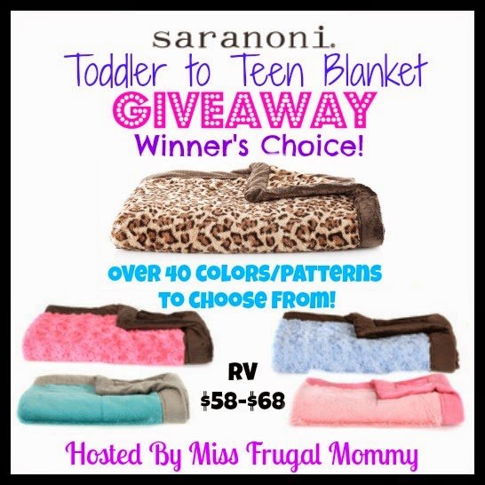 Saranoni Toddler to Teen Blanket Giveaway