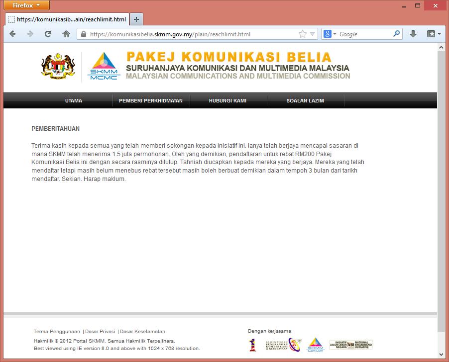 skmm rm200 ditutup Pakej Komunikasi Belia – Rebat RM200 SKMM Di Tutup