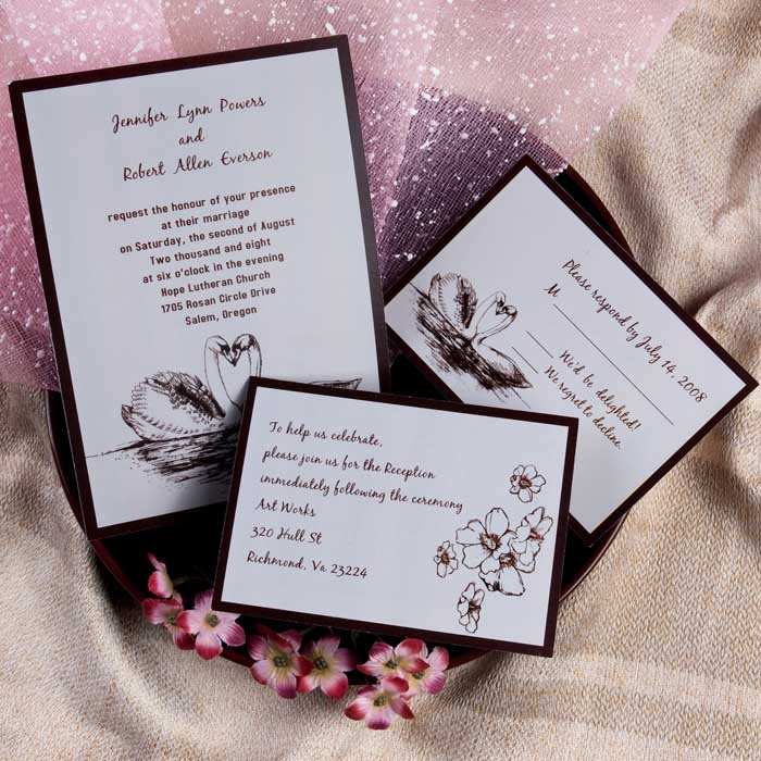 Layered Wedding Invitation with good invitations design