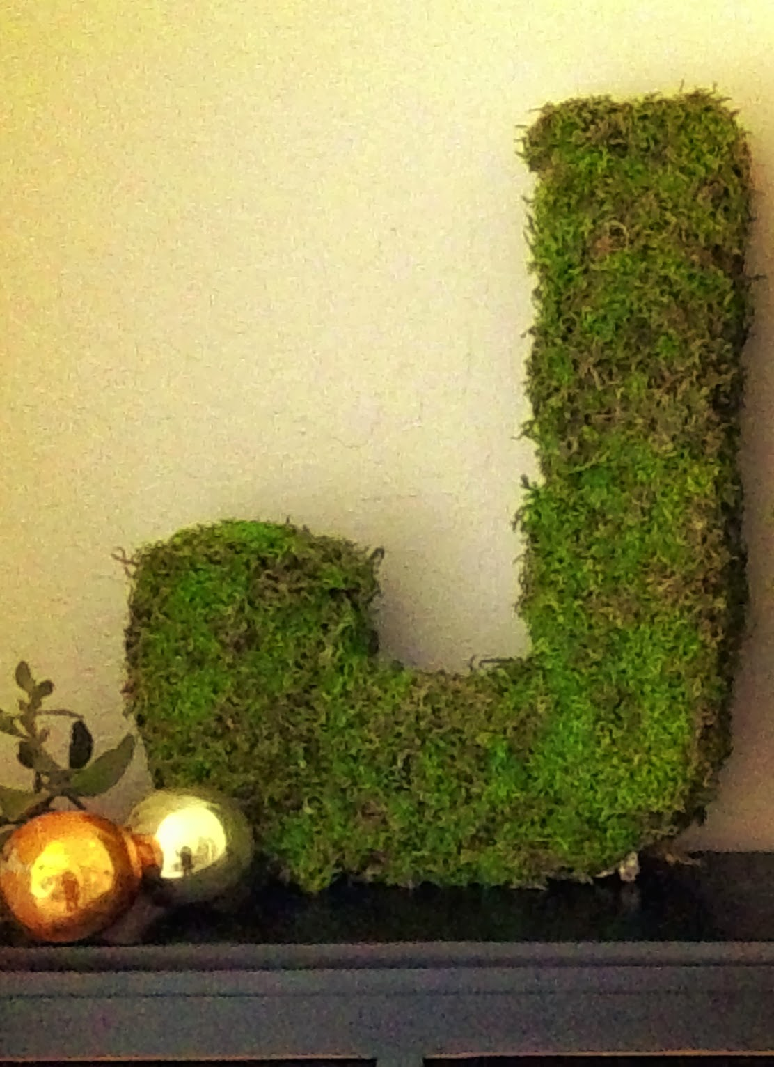 Moss Covered Letters - Happy Happy Nester