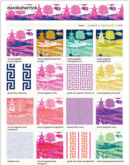 GORGEOUS SHINY THINGS: Playing fabric designer...