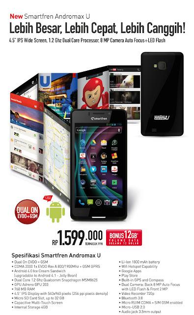 Smartfren Andromax U - HP Android Harga Murah Berkualitas Terbaik