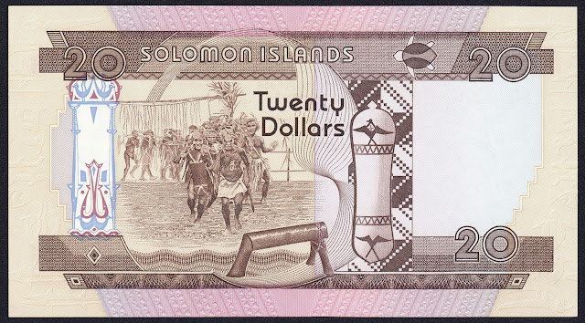 Solomon Islands Banknotes 20 Dollars banknote 1981 Warriors