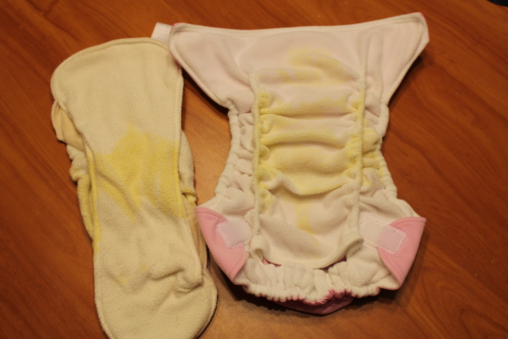 Baby Poop Stains Cloth Diapers