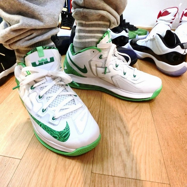 lebron 11 low green and white - photo #19