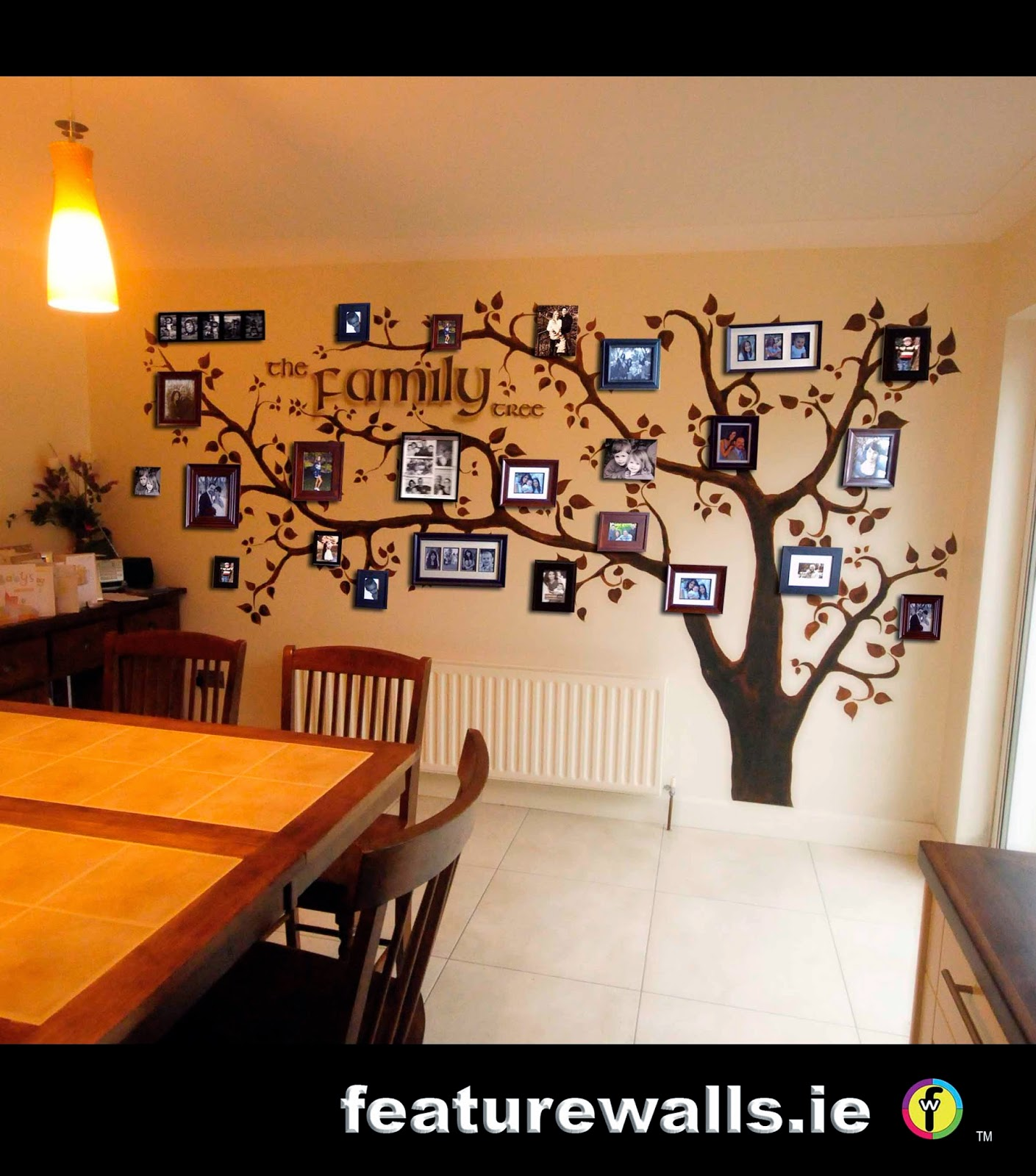 Delightful FAMILY TREE MURAL HAND PAINTED BY PROFESSIONAL MURAL ARTISTS FEATURE WALLS  BASED IN IRELAND Part 28