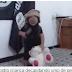 OS SINAIS DO FIM: Criança treina decapitação com ursinho de pelúcia, mostra vídeo (Veja Vídeo)