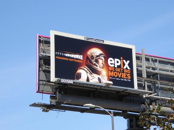 Interstellar movie Epix billboard