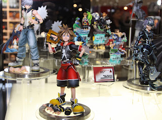 Square Enix Play Arts 2013 Toy Fair Display - Kingdom Hearts figures