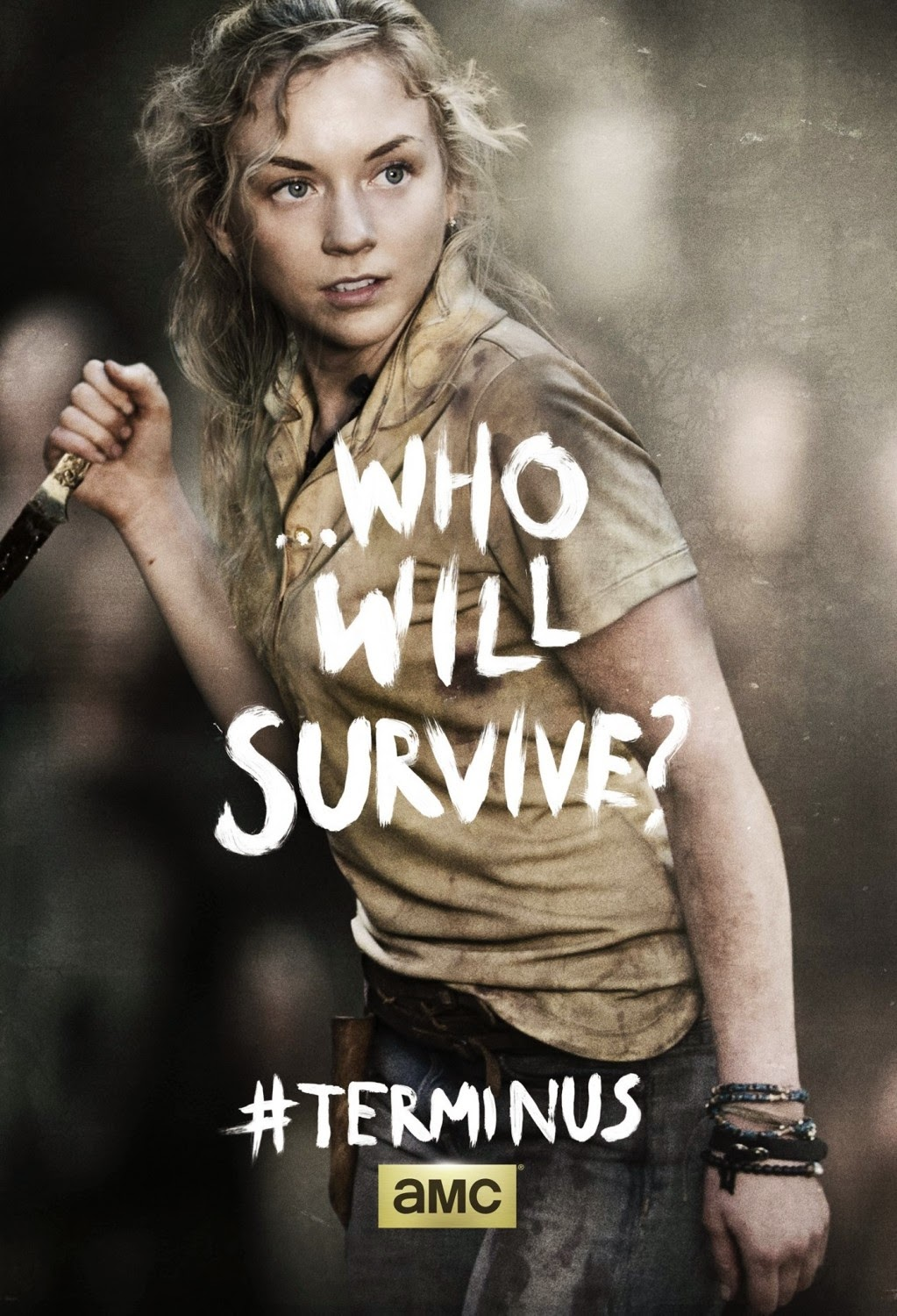"The Walking Dead Season 4 Finale ""Terminus"" One Sheet Television Posters - ...Who Will Survive? - Emily Kinney as Beth Greene"