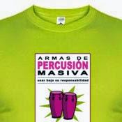 Camiseta Armas de percusión masiva II - Congas