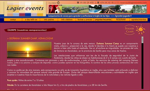 ver página web de Lagier Events: campamentos de verano para aprender inglés, Madrid y Sevilla, Coto de Doñana