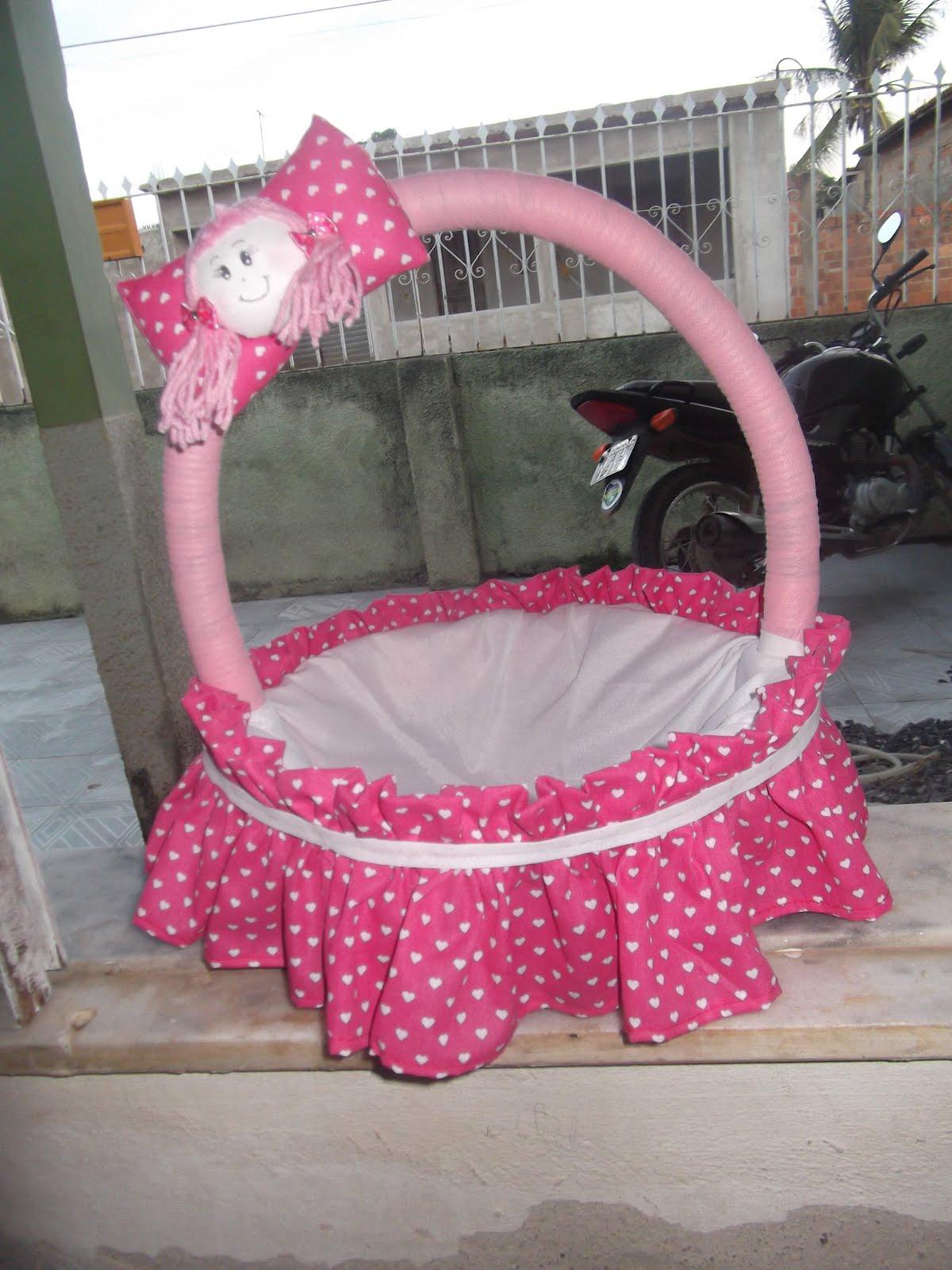 Artesanato Cesta decorada para quarto de bebê