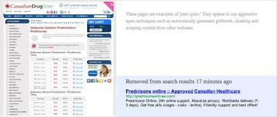 Drug Spam By Google