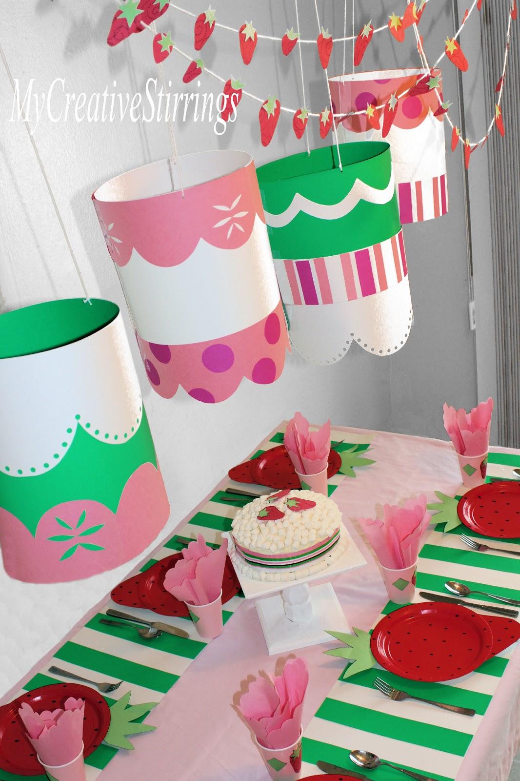 My Creative Stirrings: Strawberry Shortcake Birthday Party
